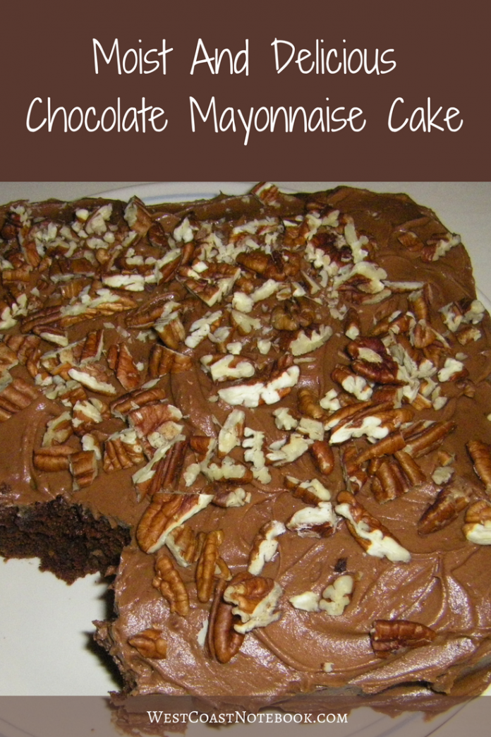 Moist And Delicious Chocolate Mayonnaise Cake