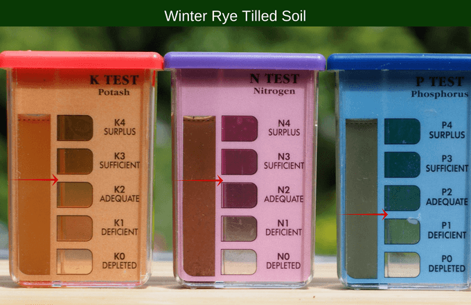 Winter rye tilled soil results