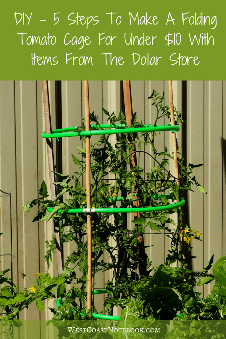DIY - 5 Steps To Make A Folding Tomato Cage For Under $10 With Items From The Dollar Store