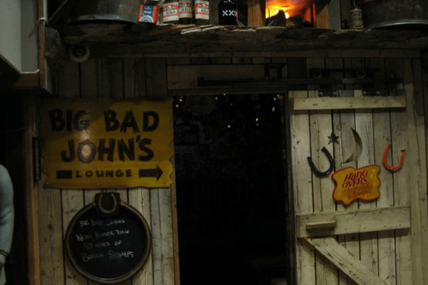 entrance to Big Bad John's
