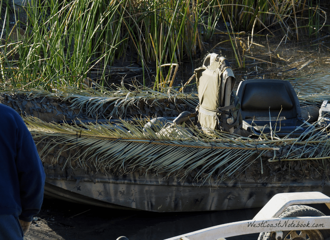 Camouflaged boat
